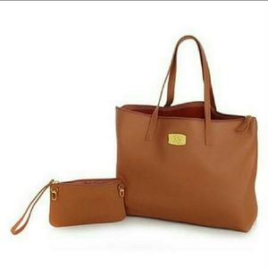 Joy Mangano leather tote
